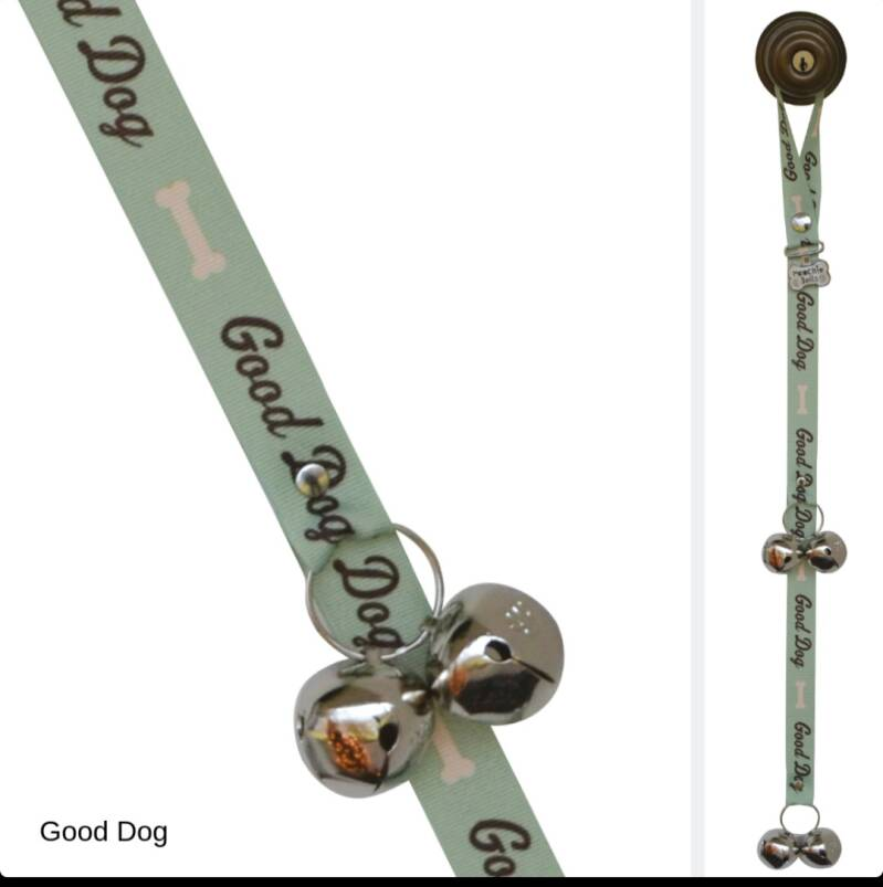 Poochie Bell Good Dog  green