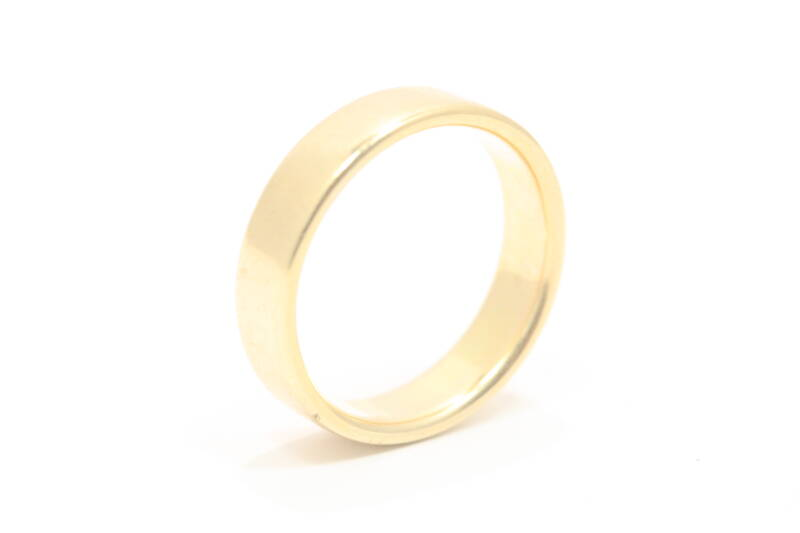 Gouden Ring (Band-ring Nmr-01)