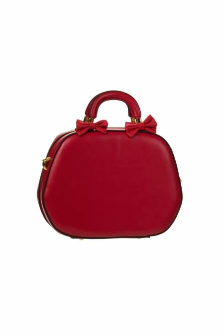 Lucille Hand Bag In Lipstick Red
