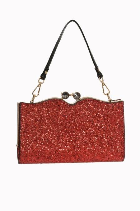 Simone Red Glitter Bag