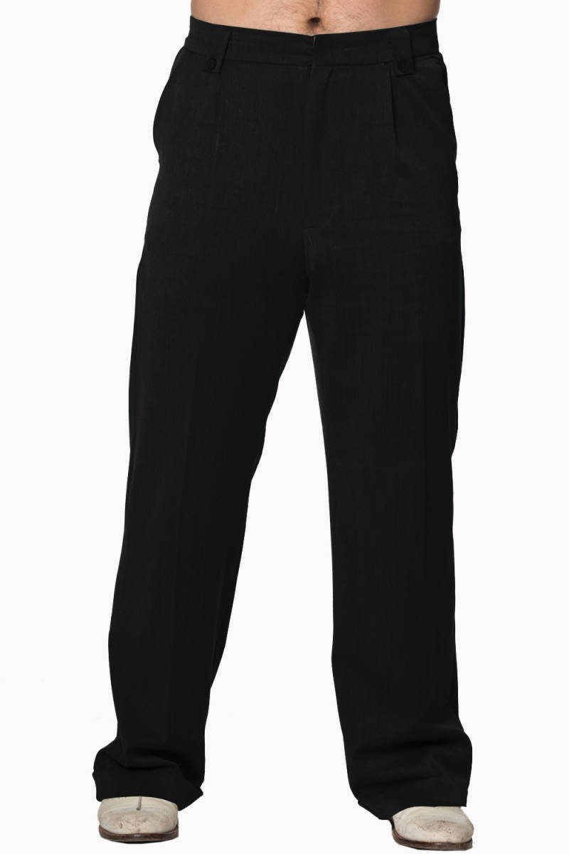 Men's Get In Line Trousers Black of Gray