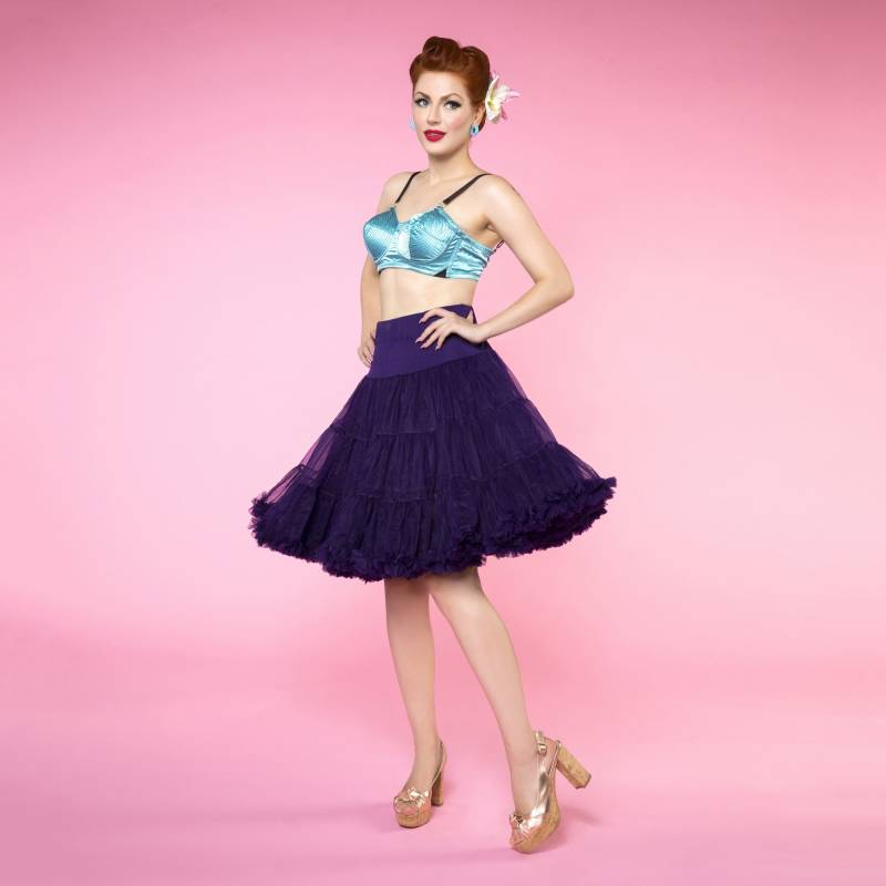 Fluffy Purple 59cm Petticoat