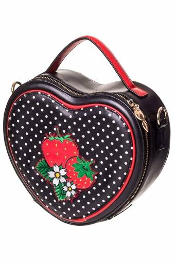 Banned Apparel Heart shaped strawberry bag