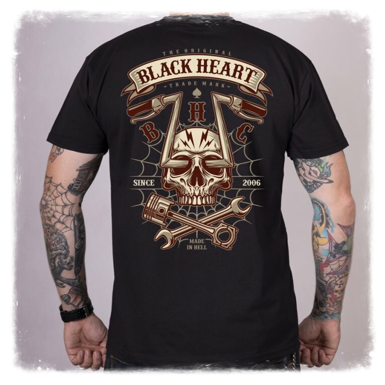 Black Heart CHOPPER SKULL