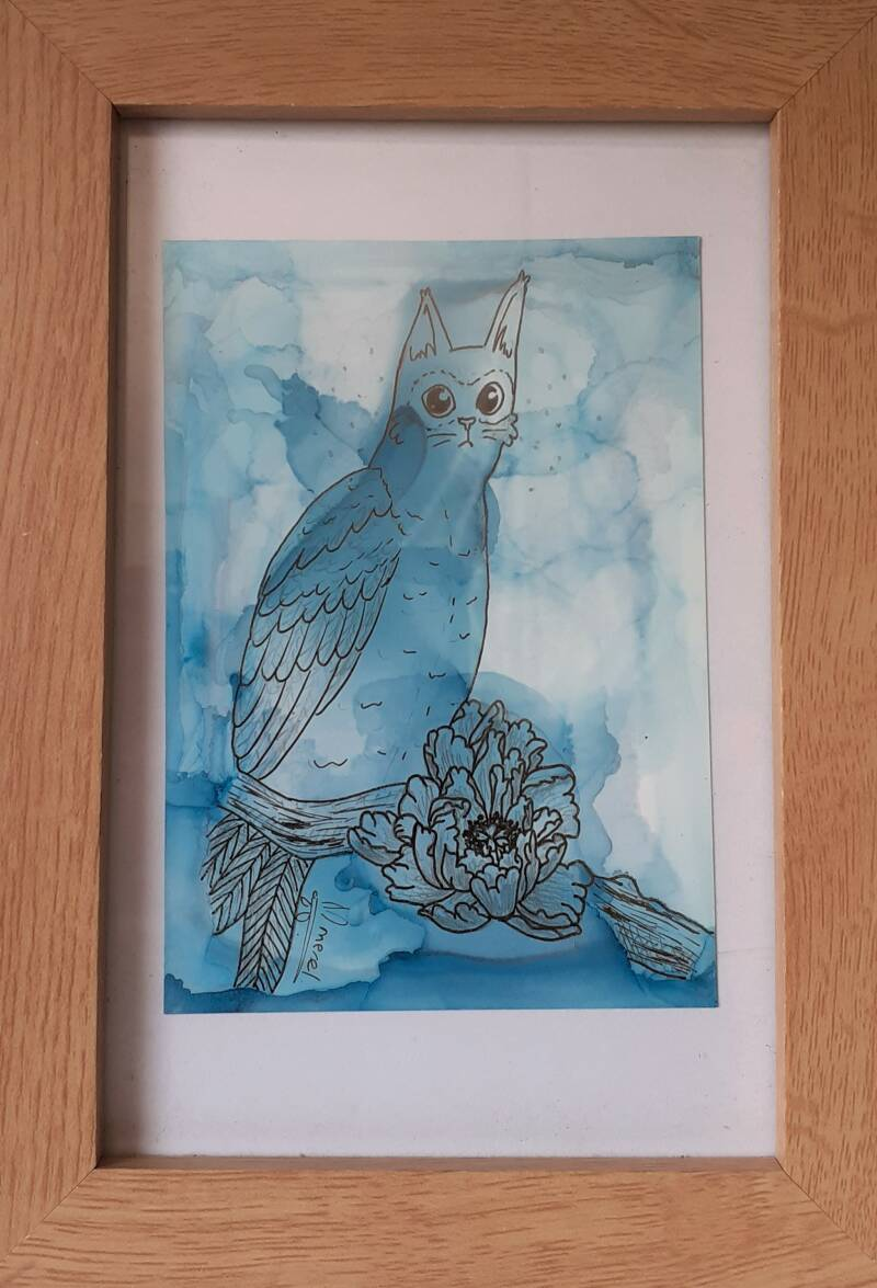 Owl kitty by Merel