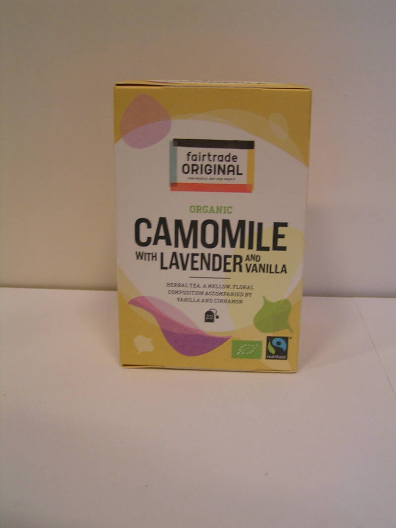 Fairtrade thee Kamille lavendel vanille, bioMH,