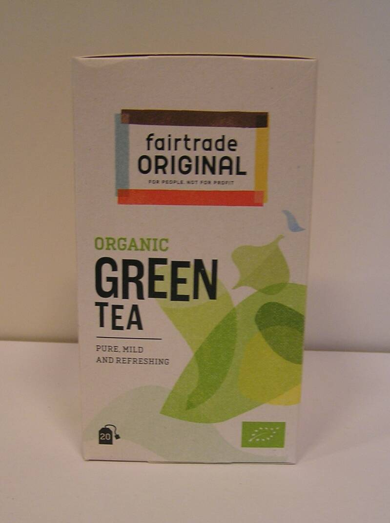 Fairtrade Thee groen, bio, 20x2g
