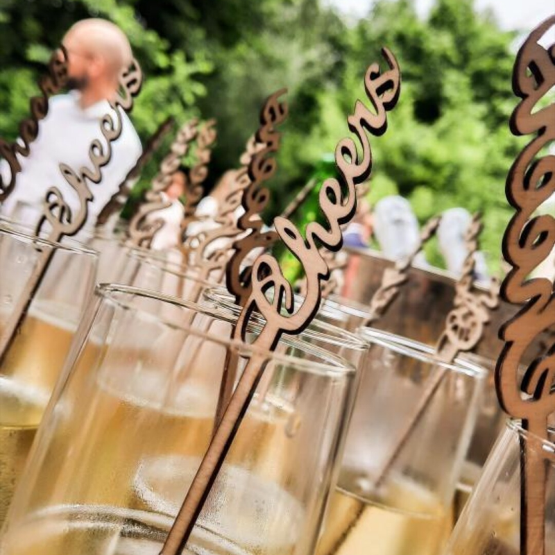 Champagne stokjes 'Cheers'