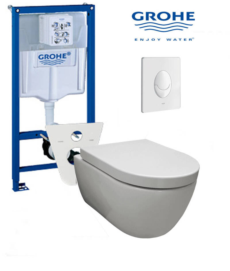 Toilet set Grohe met randloos easy flush 48 toilet wit