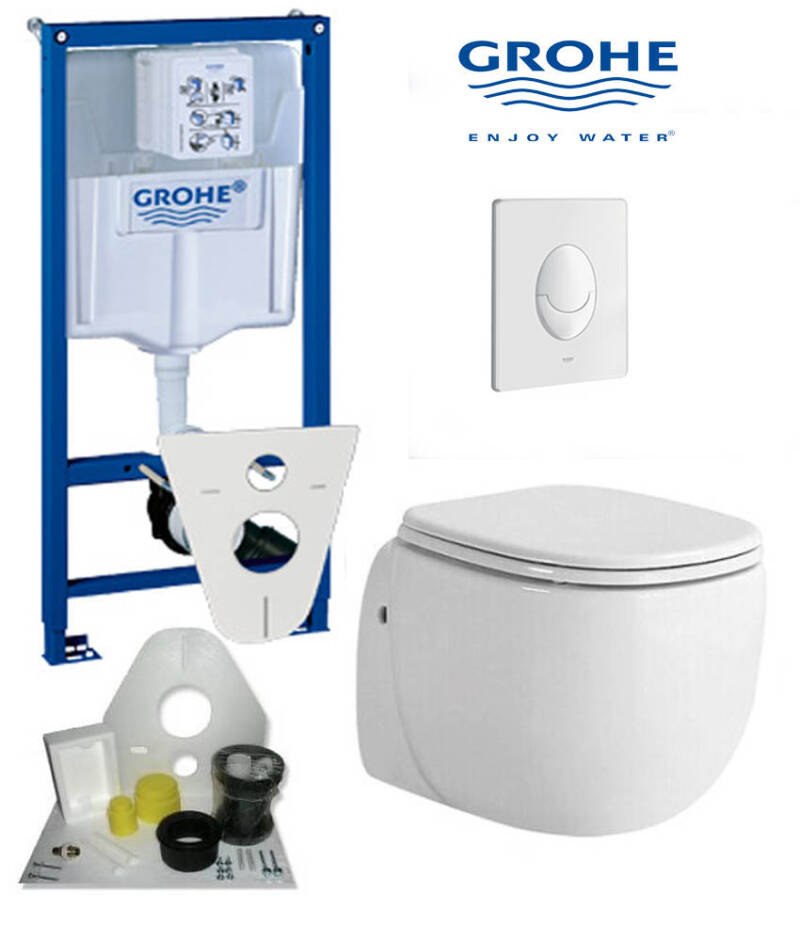 Toilet set Grohe met Equal toilet 50 cm wit