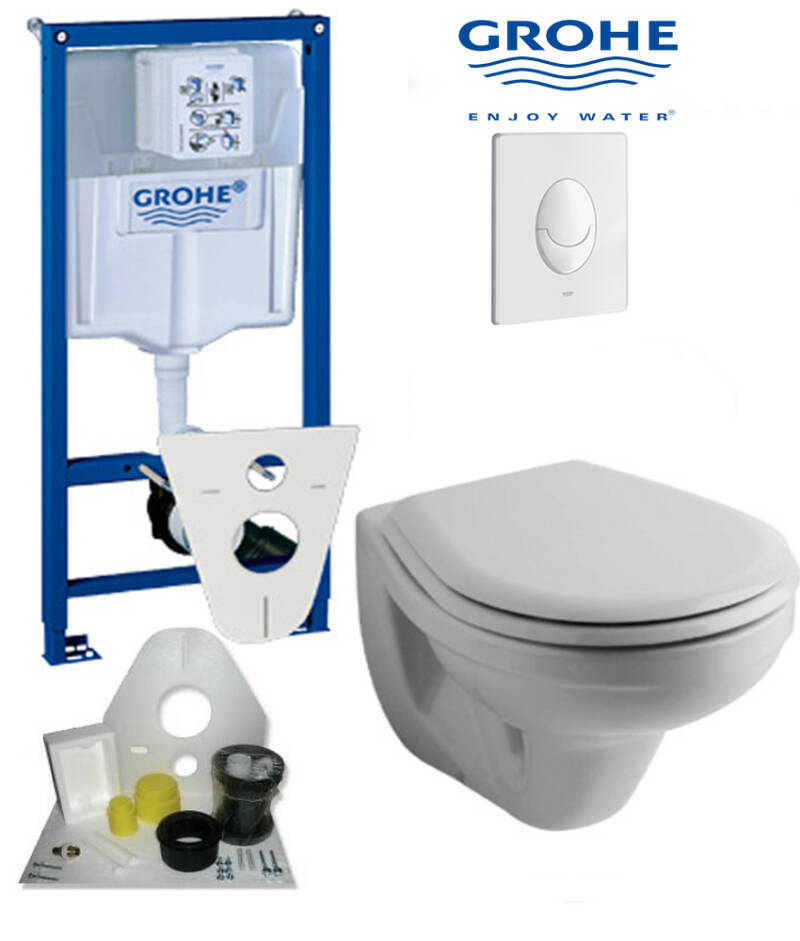 Toilet set Grohe met Sphinx toilet 51 wit