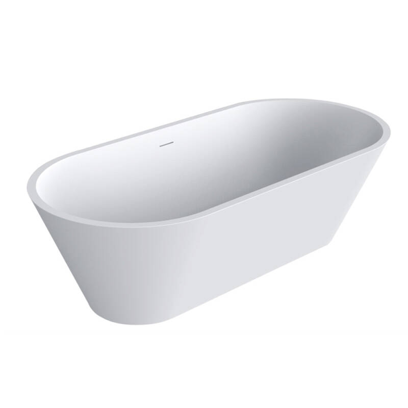 Solid Surface bad Mooi 169 cm wit mat