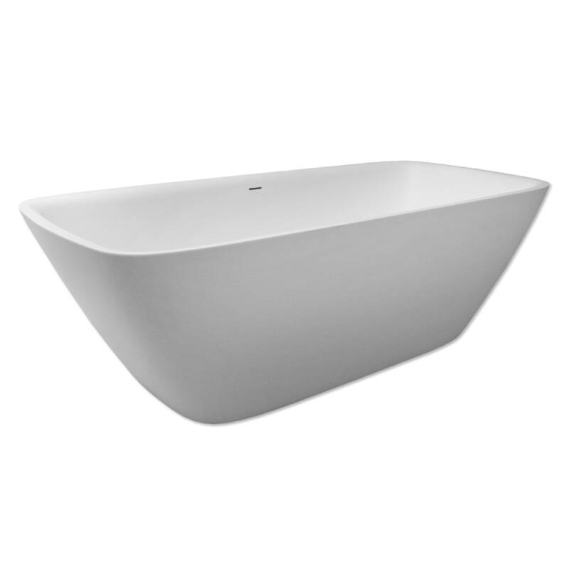 Solid Surface bad Romeo 174 cm wit mat