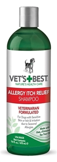 W2-384722 VETS BEST ALLERGY ITCH RELIEF SHAMPOO 470 ML
