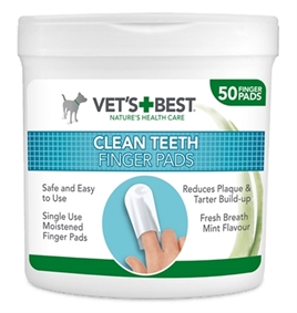 W1-384726 VETS BEST CLEAN TEETH FINGER PADS (50 ST)