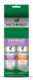 W2-384731 VETS BEST EAR WASH & DRY COMBO PACK 2X120 ML