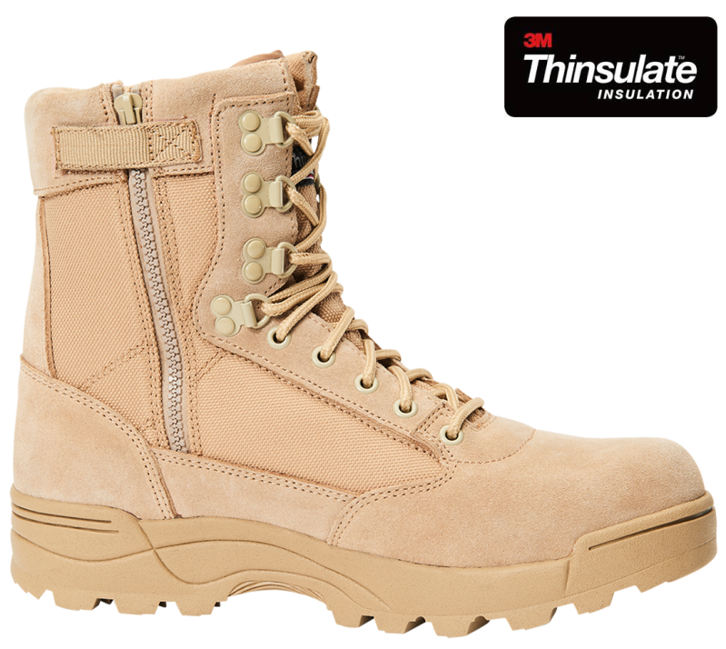 Tactical Zipper Boots Khaki