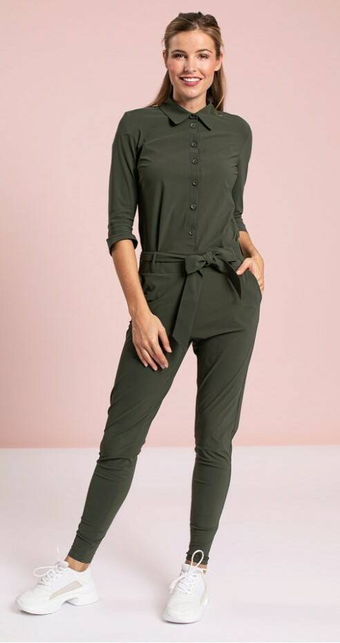 Studio Anneloes - Angelique jumpsuit 3/4 with cuff - green