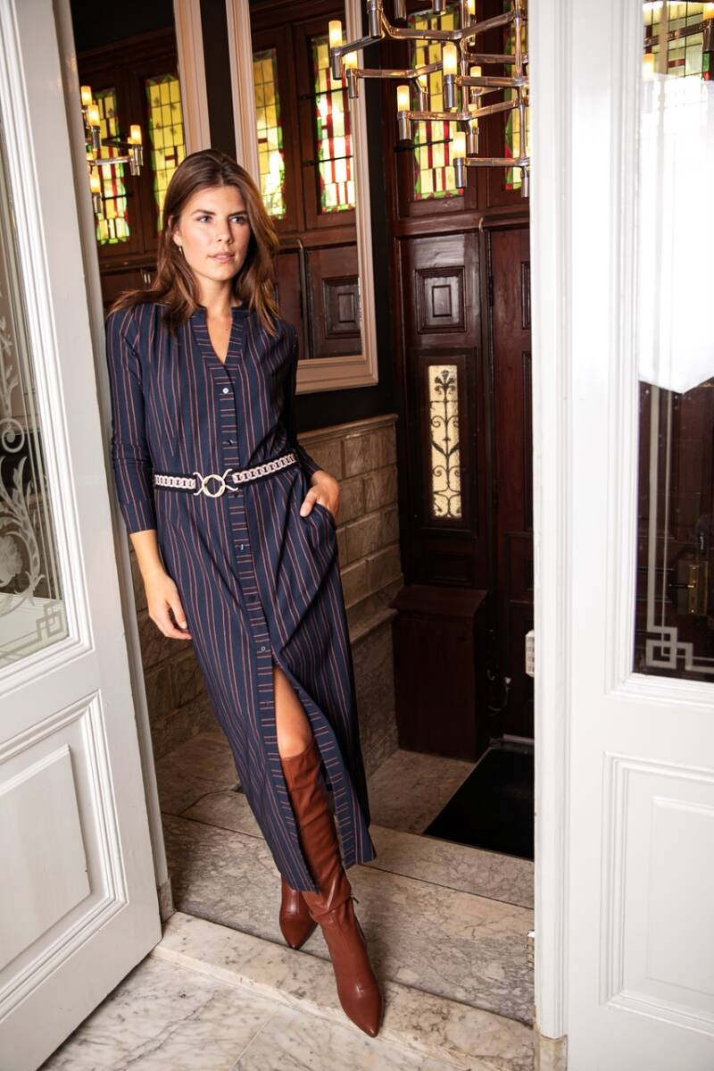 Studio Anneloes - Shelby Pinstribe ls dress