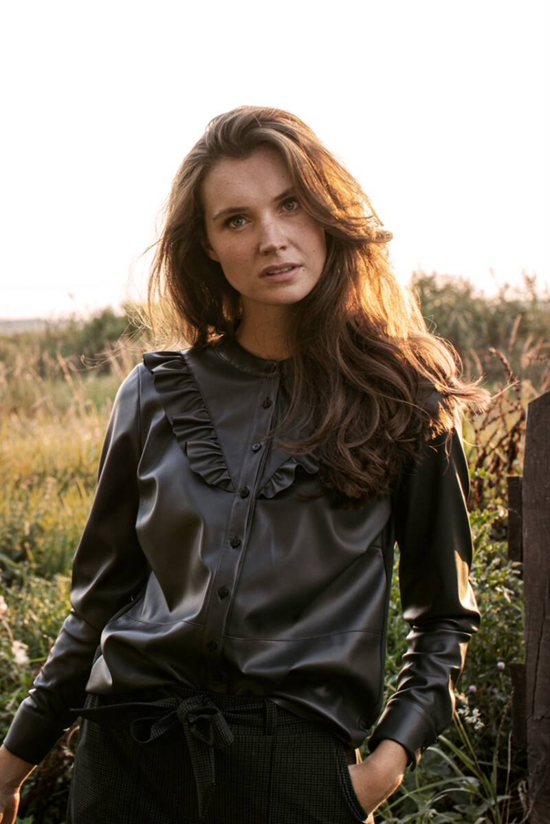 Studio Anneloes - Odelia dull leather blouse