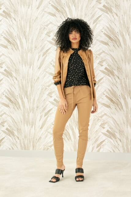 Studio Anneloes - Downstairs bounded trousers -camel