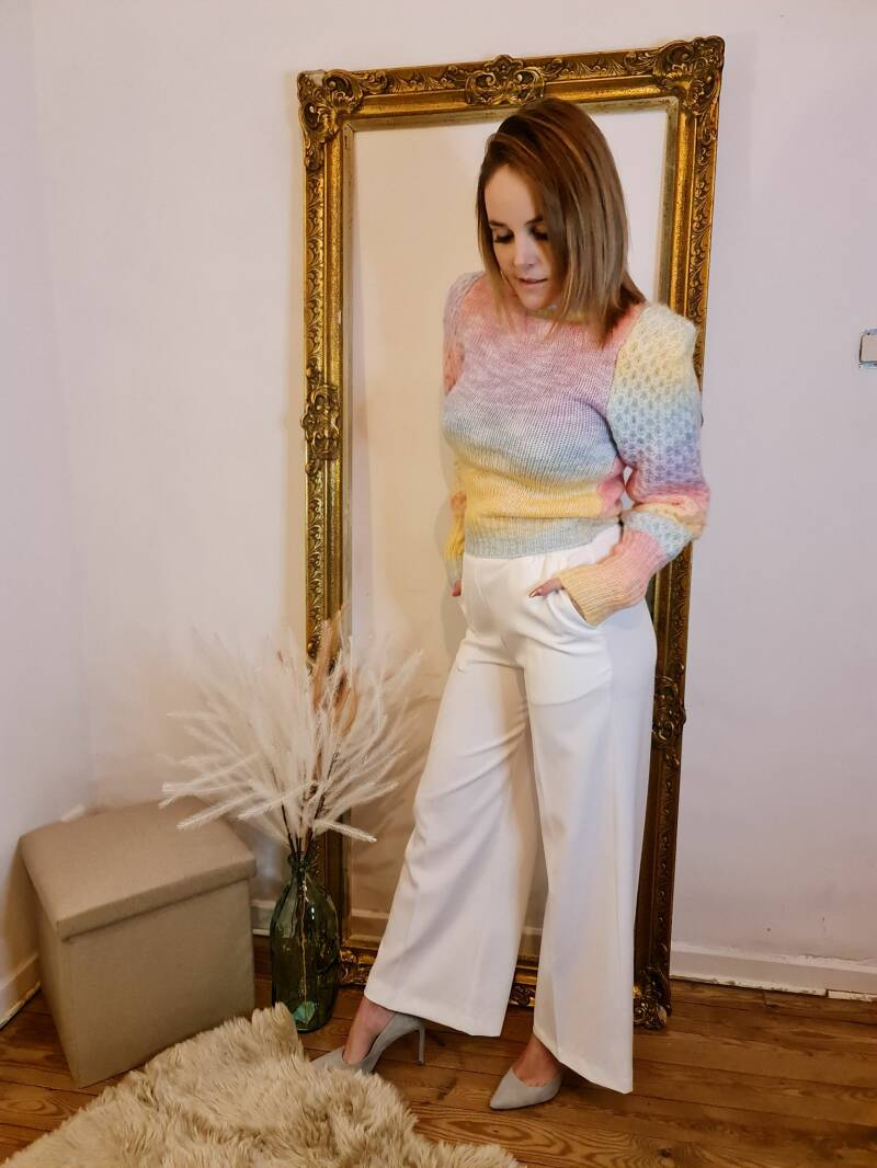 Rainbow knitted pull