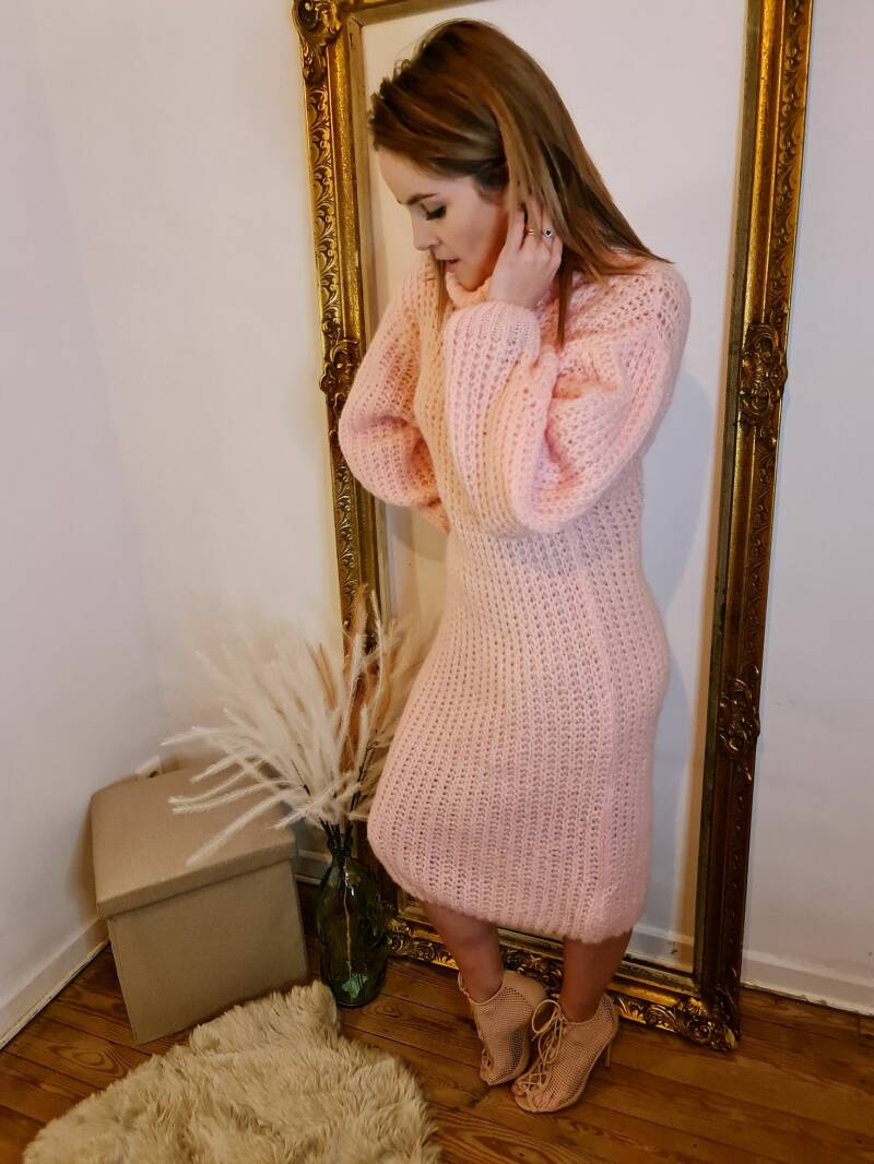 Knitted Pink Dress
