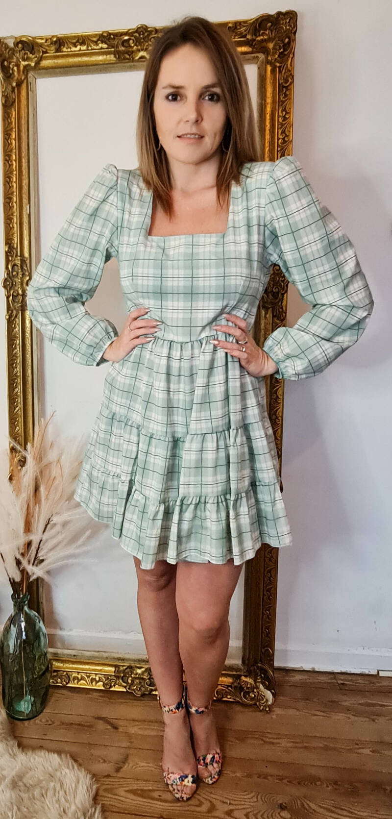 Sweetheart dress Green