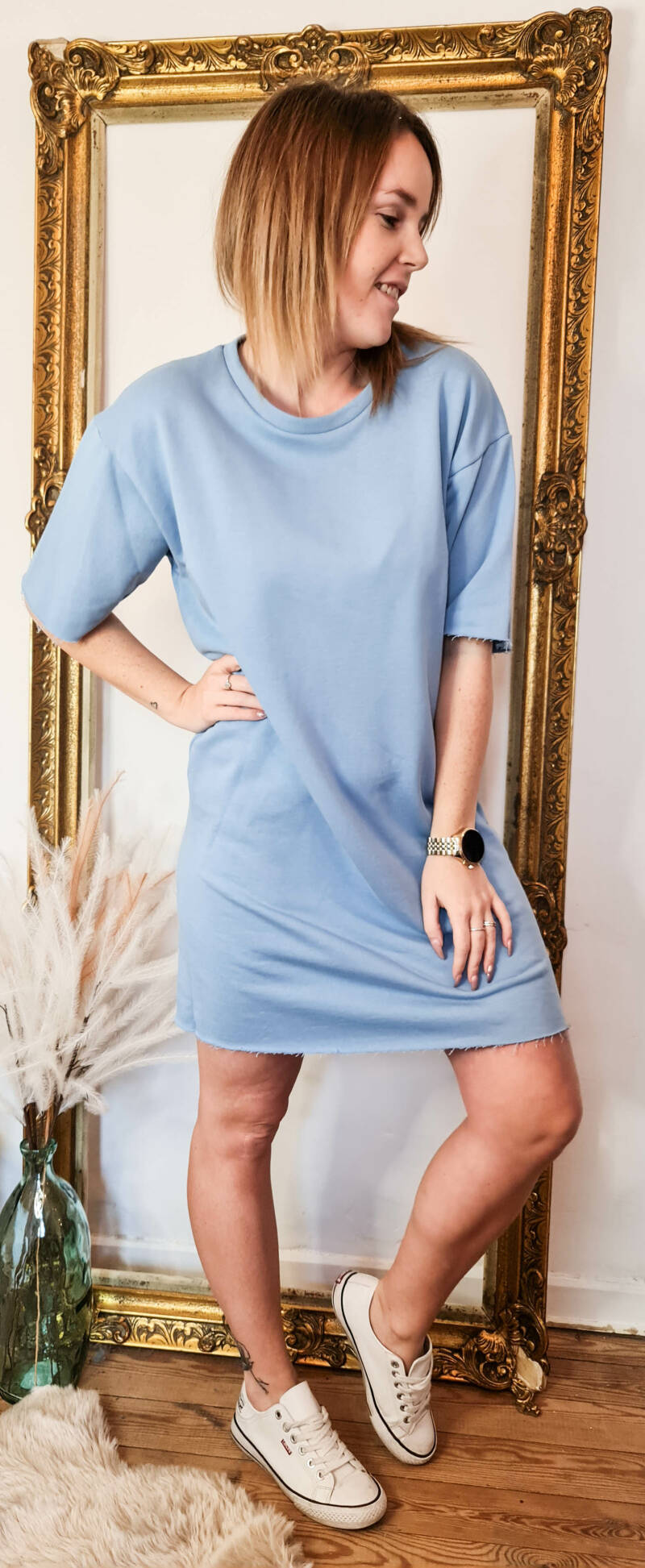 Soft blue trendy dress