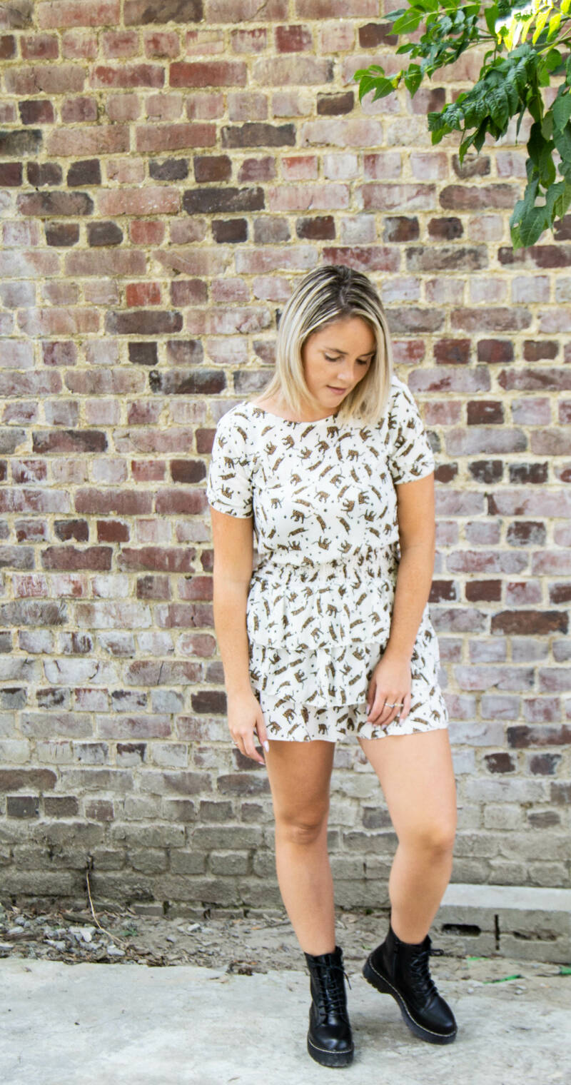White tiger dress