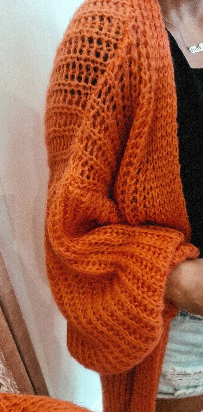 long knitted fall gillet