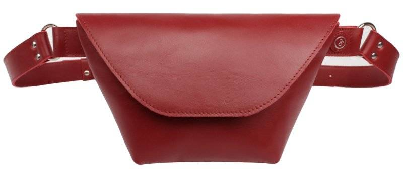 Fanny pack Red Leather