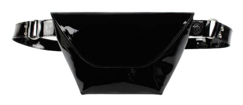 Fanny pack Black Lacquer Leather