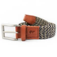Gary navy blue and beige belt