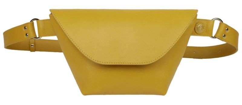 Fanny pack Mustard Leather