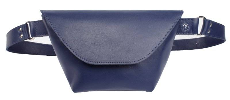 Fanny Pack  Navy Leather