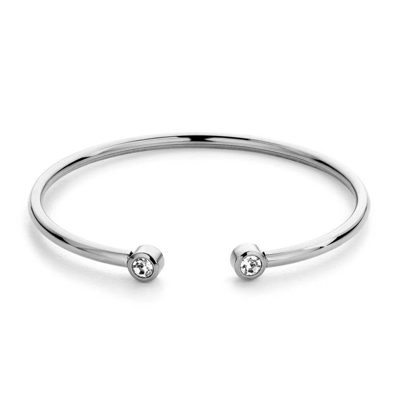Diamond bangle silver28