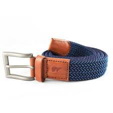Tommy navy blue and light blue belt