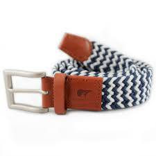Peter navy blue and white belt