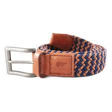 Luis navy blue and camel brown belt