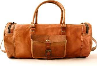 Anderson leather weekend bag