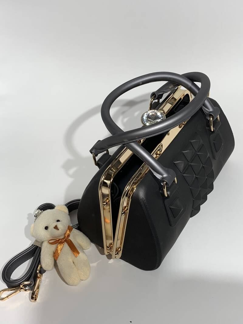 Rubber Fashion Handbag,Women Hand Shoulder Bag. Aanbieding!
