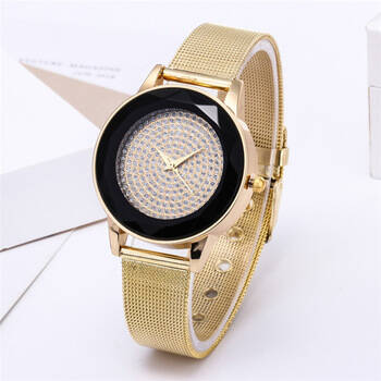 Gold diamond lady's watch