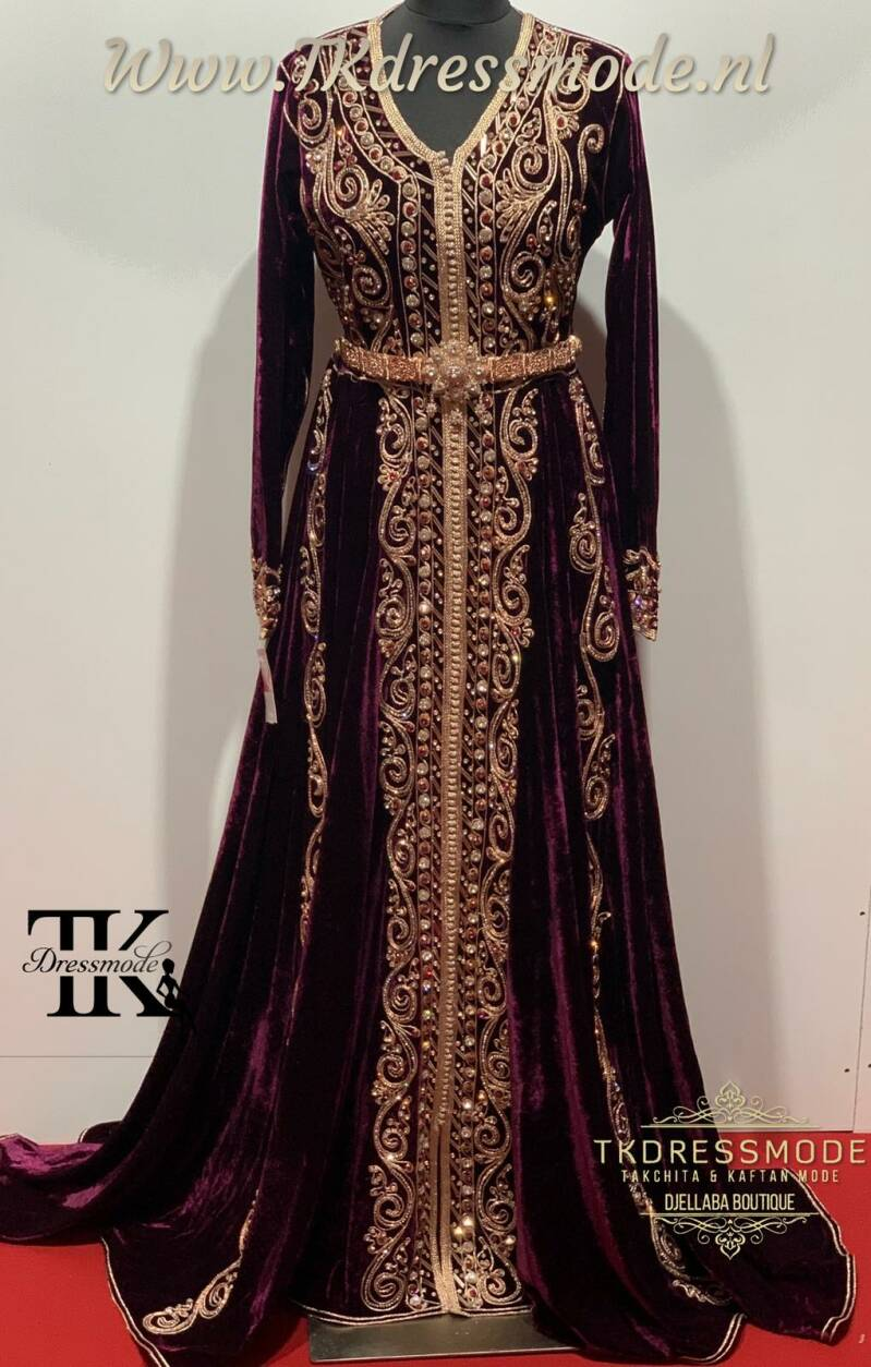 Baljurk Kaftan Dress  ( Mubra, Velvet )          Art. Nr 2.0004