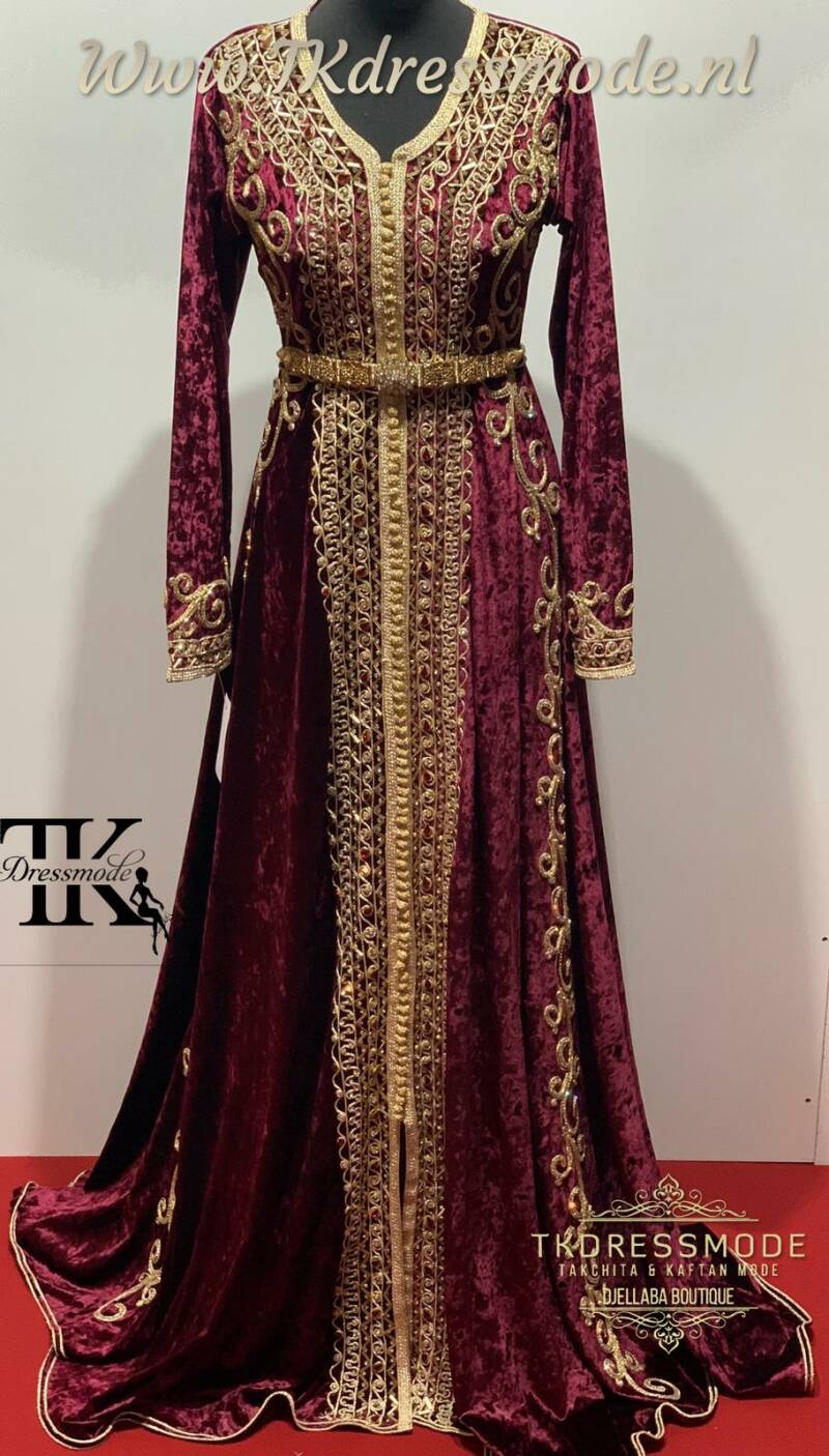Baljurk Kaftan Dress  ( Mubra, Velvet )          Art. Nr 2.0005