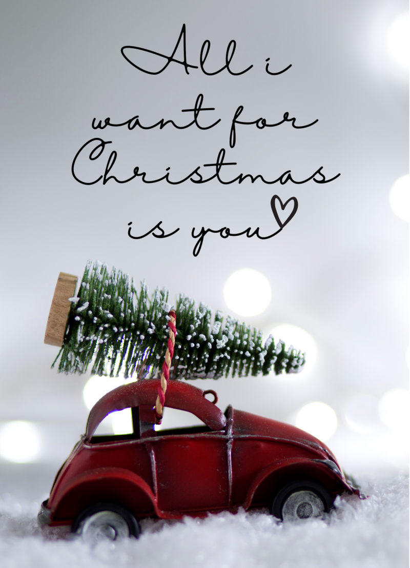 All I want for Christmas is you (incl envelop)