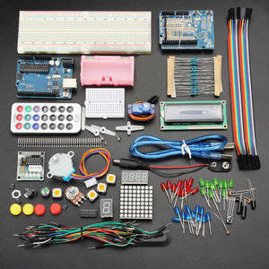 Arduino pakket blok 3 + clear breadbord + shield
