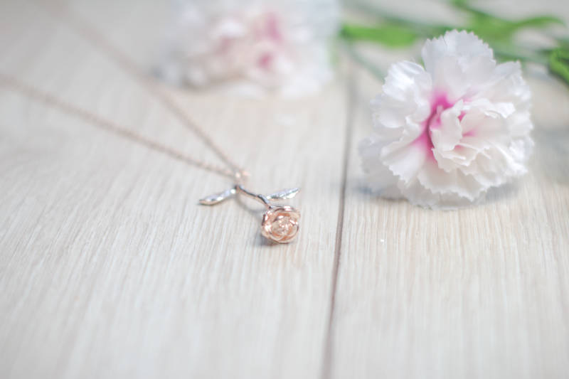 RoseGold Flower Necklace