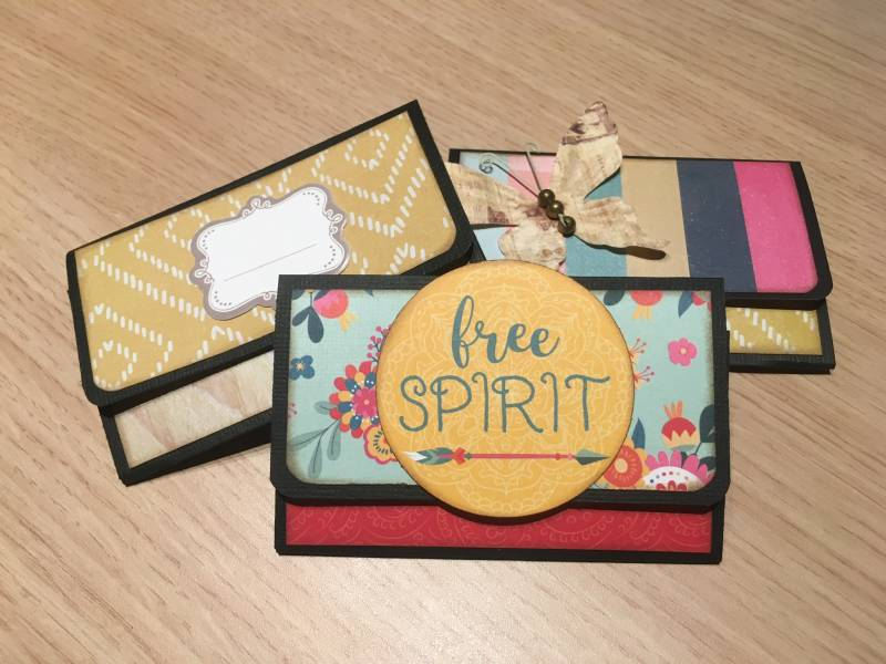 "Online workshop Scrapbooking ""Gift Card Holder"""