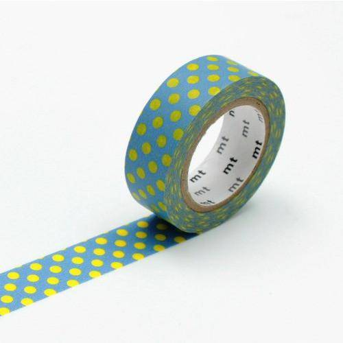Washi Tape: MT Kamoi Paper - dot aqua